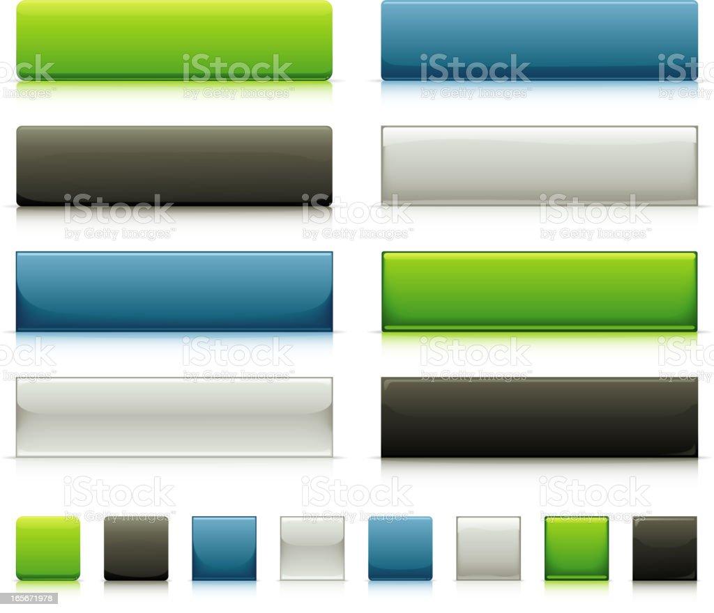 Sleek Web Button Elements royalty-free stock vector art