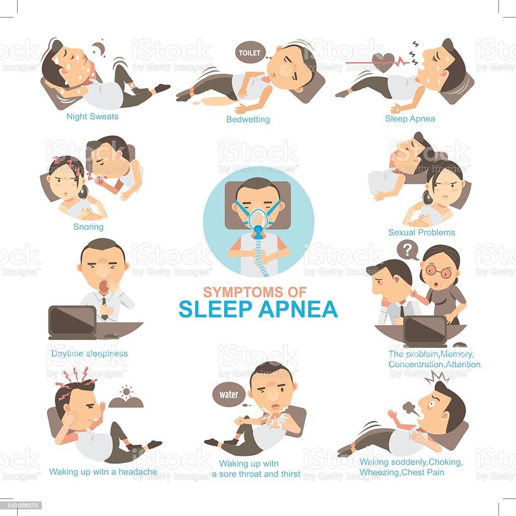 Sleep Apnea vector art illustration