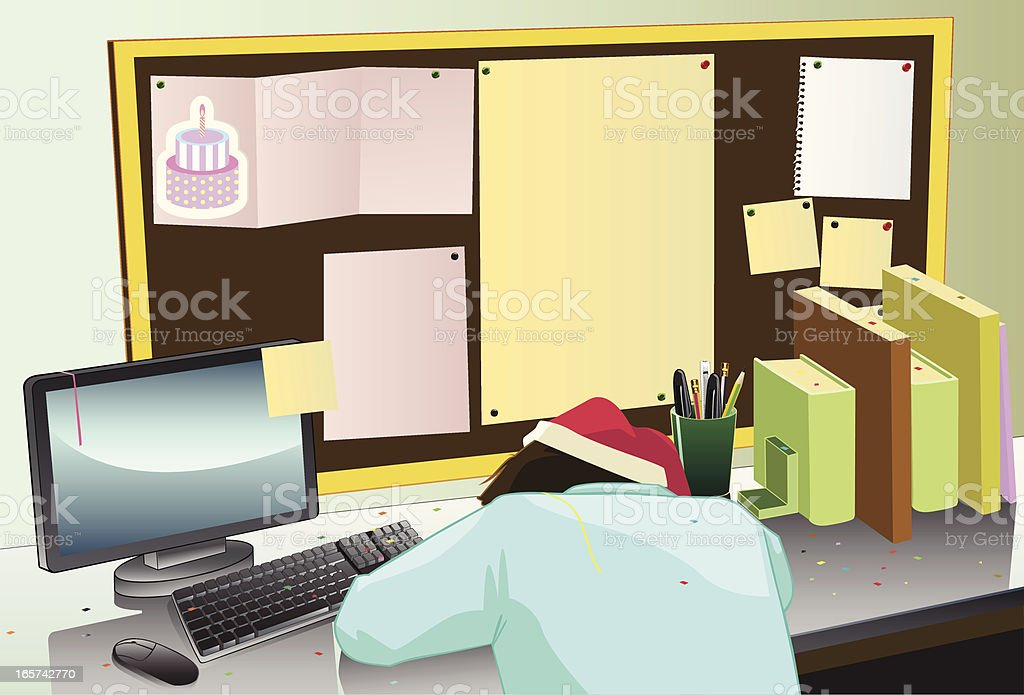 Dormir au bureau stock vecteur libres de droits  istock