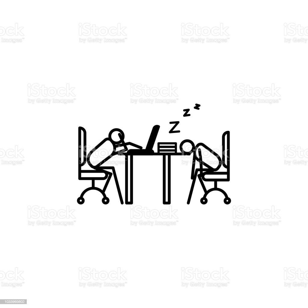 Plan De Travail Mobile dormir À licône de plan de travail Élément dicône personne