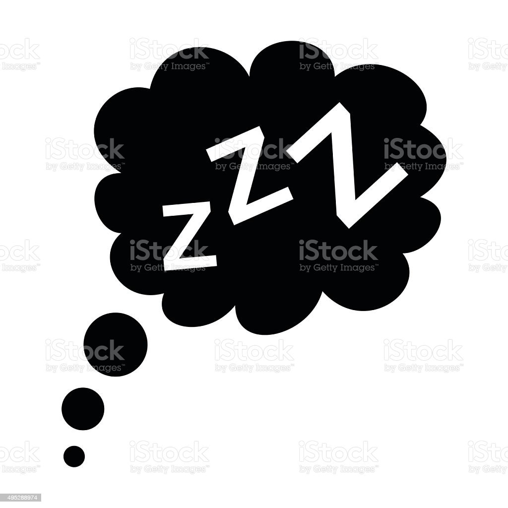 Sleep black icon