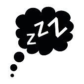 Sleep black icon