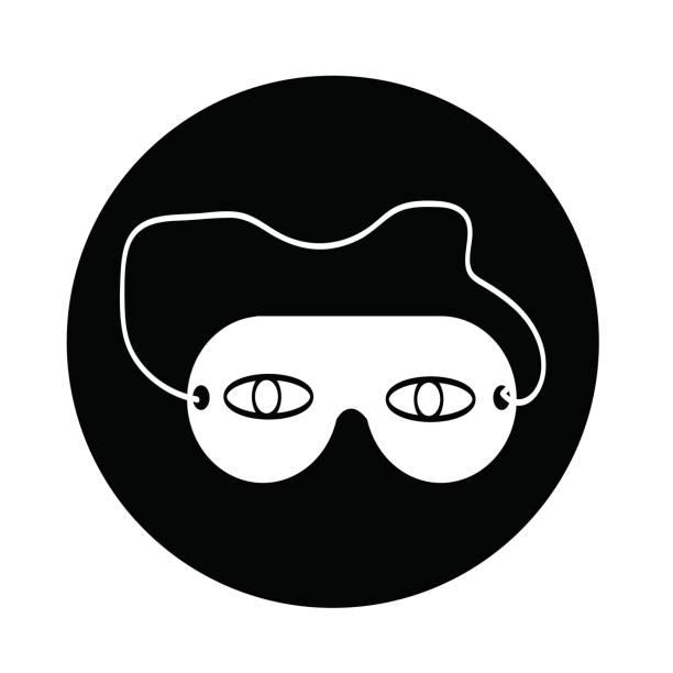 icono de máscara de ojo de sueño - ilustración de arte vectorial