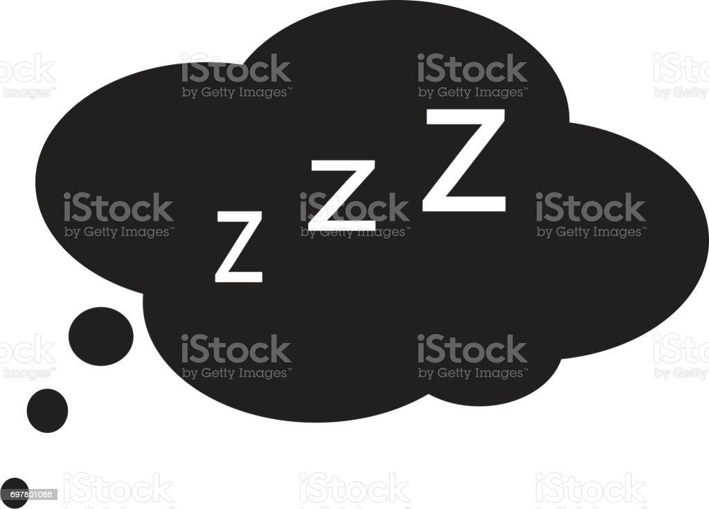 sleep icon on white background. sleep sign. vector art illustration