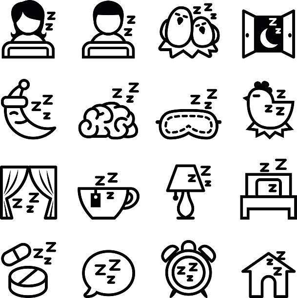 Conjunto de iconos de descanso - ilustración de arte vectorial