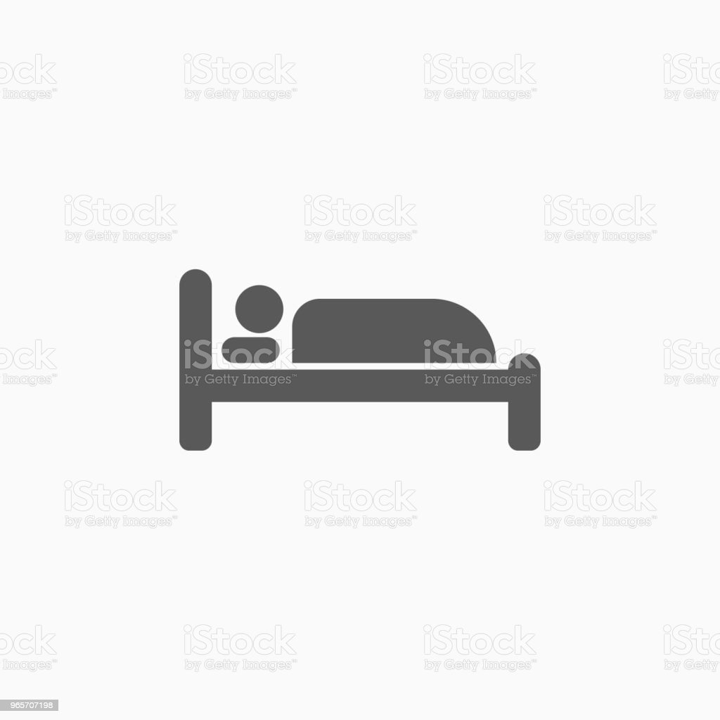 sleep icon - Royalty-free Bed - Furniture stock vector