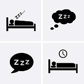 Sleep Icons set Vector.