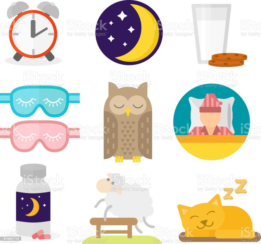 Sleep icons vector illustration vector art illustration