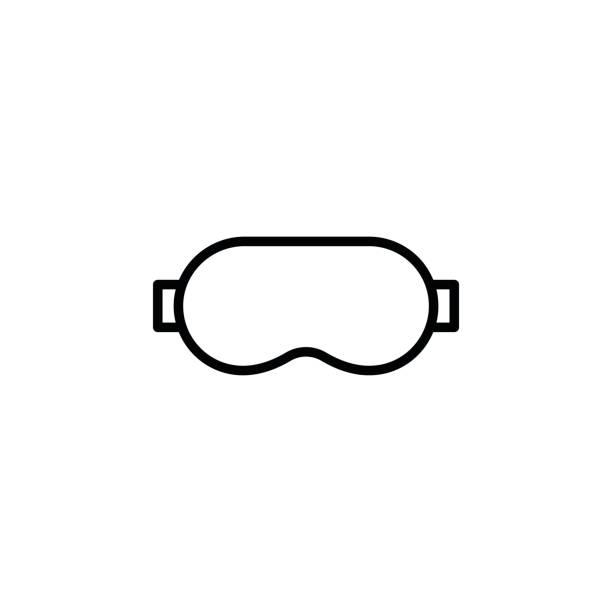 Icono de máscara de sueño - ilustración de arte vectorial