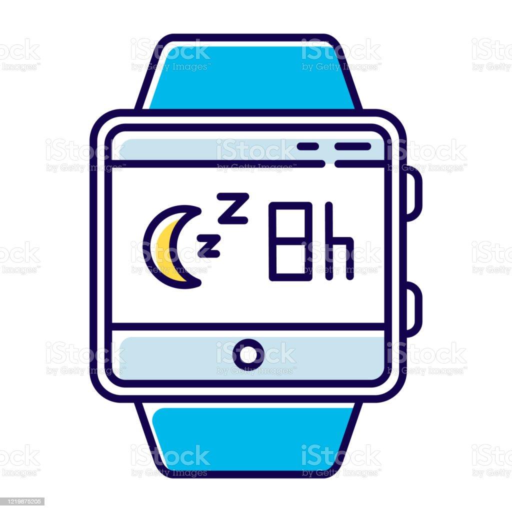 Uyku Izleme Akıllı Saat Fonksiyonu Renk Simgesi Fitness Bileklik Yeteneği  Ve Sağlıklı Yaşam Hizmeti Uyku Takibi Sırasında Hareket Uyku Alışkanlıkları  Analiz Yalıtılmış Vektör Illüstrasyonu Stok Vektör Sanatı & Akıllı Saat'nin  Daha Fazla