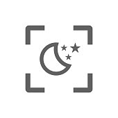 Sleep, night mode icon - Perfect for use in designing and developing websites, printed files and presentations, Promotional Materials, Illustrations any type of design projects.
