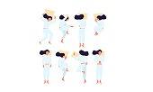 istock Sleep positions vector illustration 1188059970