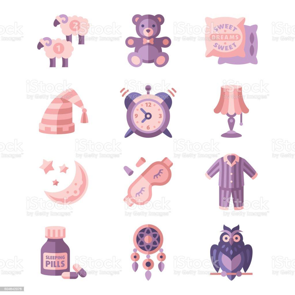 Les icônes vectorielles sommeil - Illustration vectorielle