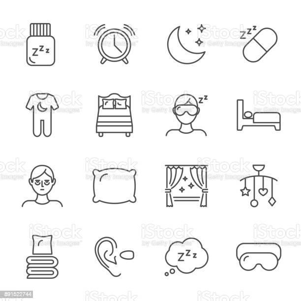 Sleep set of vector icons line style vector id891522744?b=1&k=6&m=891522744&s=612x612&h=ota 8razvgeure9jmpo6skwerhdjeqfdv17zl024npi=