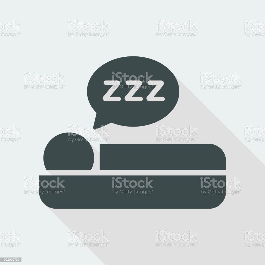 Schlafsymbolsymbol Stock Vektor Art Und Mehr Bilder Von Bett