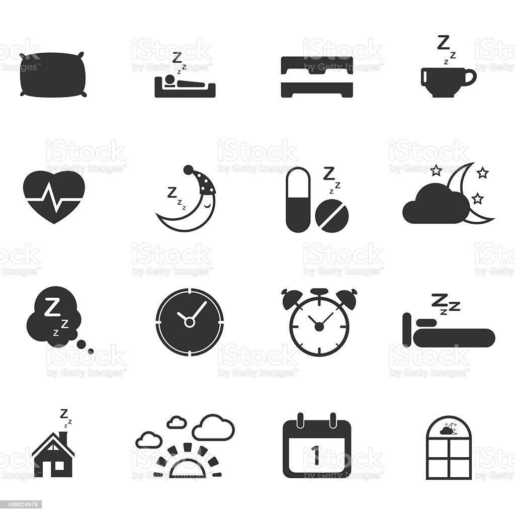 sleep time icons set,Vector EPS10. vector art illustration