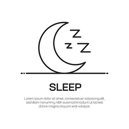Sleep Vector Line Icon - Simple Thin Line Icon, Premium Quality Design Element