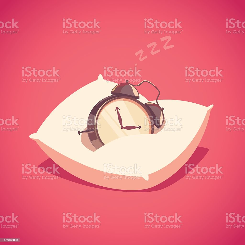 Sleeping alarm clock. royalty-free sleeping alarm clock stock illustration - download image now