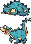 Sleeping and awake dinosaur