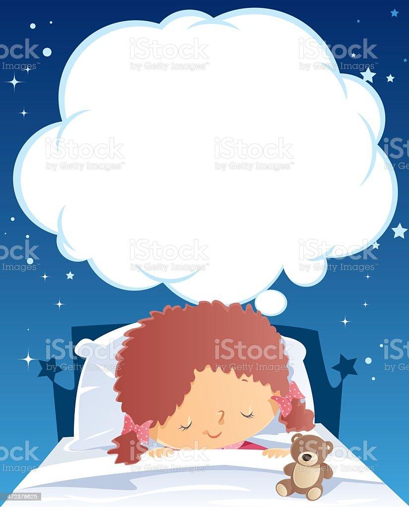 Sleeping and dreaming royalty-free stock vector art