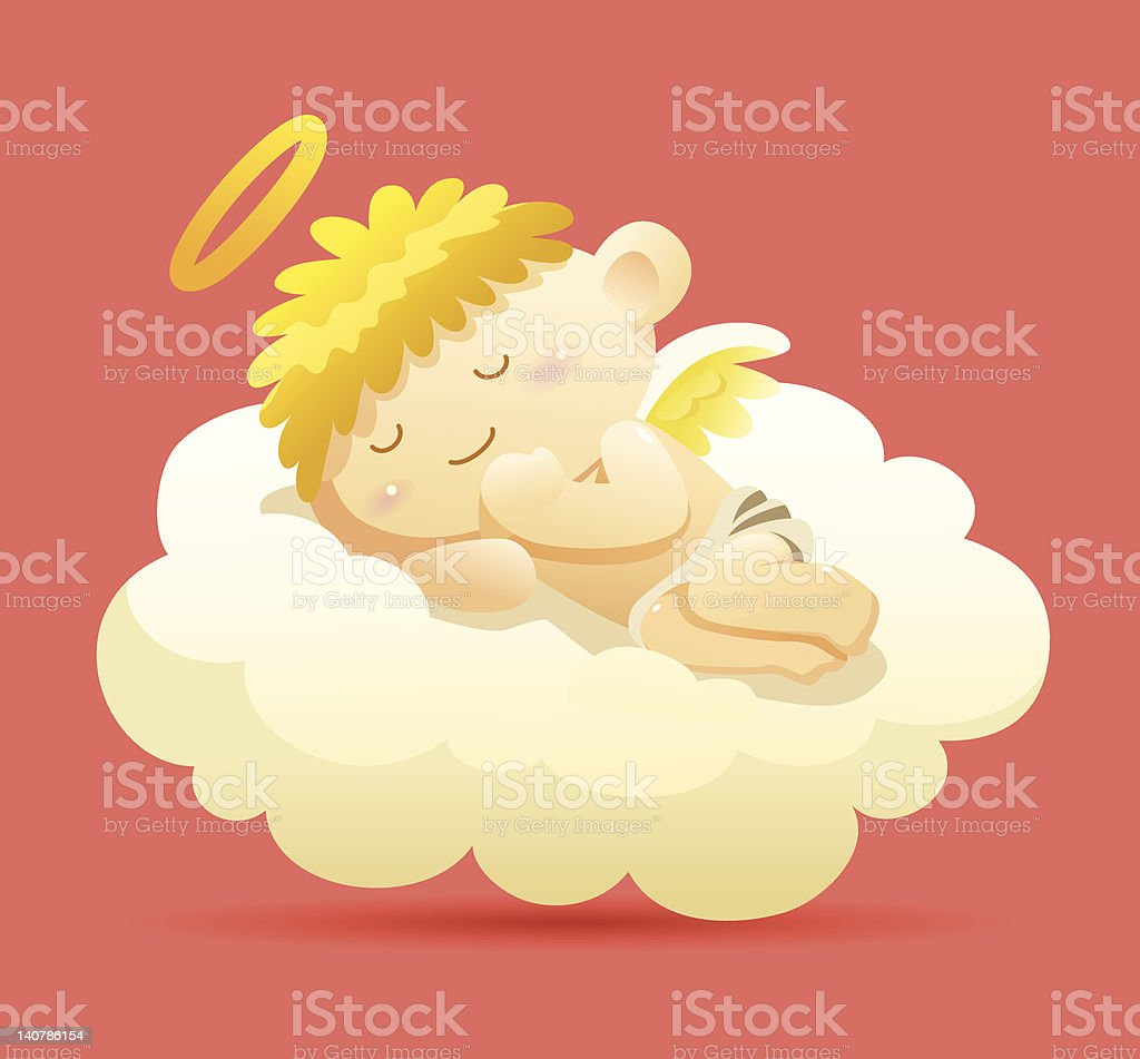 Sleeping Angel vector art illustration