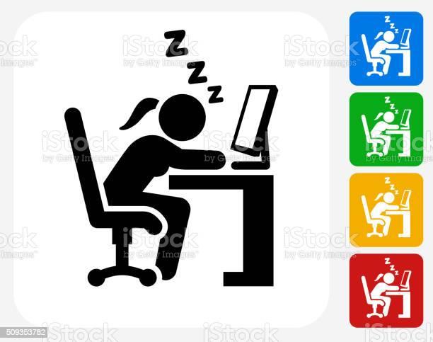Sleeping at work icon flat graphic design vector id509353782?b=1&k=6&m=509353782&s=612x612&h=2onhb v4cugmvj93r axiib3vik0gpn57yyp54d3flg=