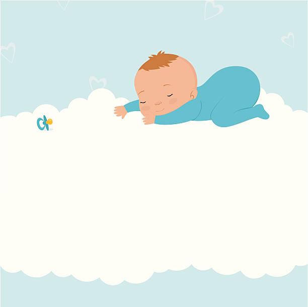 bildbanksillustrationer, clip art samt tecknat material och ikoner med sleeping baby boy - baby sleeping