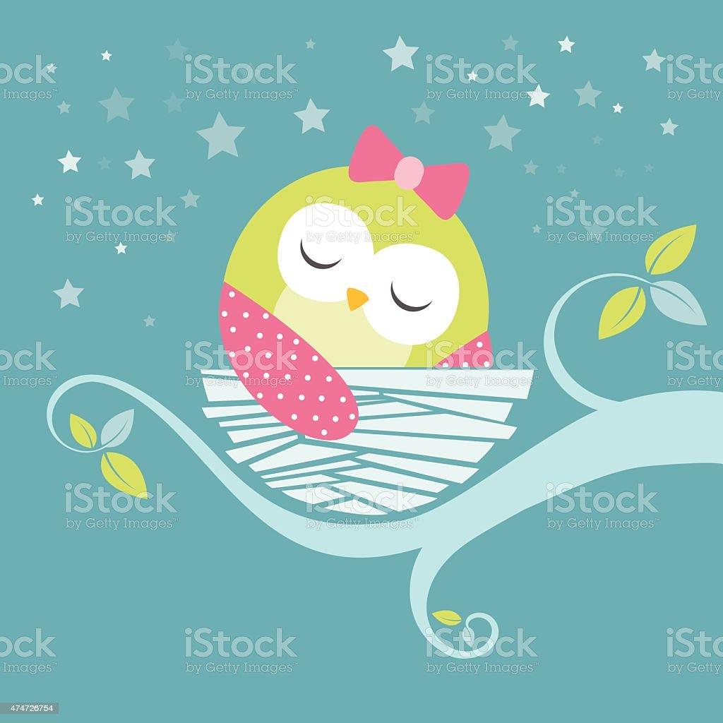 Sleeping Baby Owl Stock Illustration Download Image Now Istock