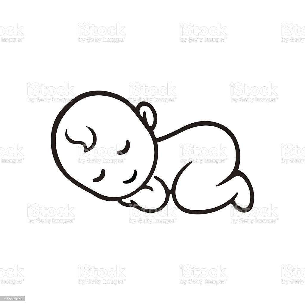 Vetores de Sleeping Baby Silhouette e mais imagens de Bebê ...