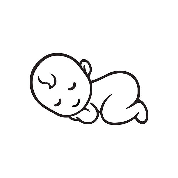 istock sleeping baby silhouette voltagebd Image collections