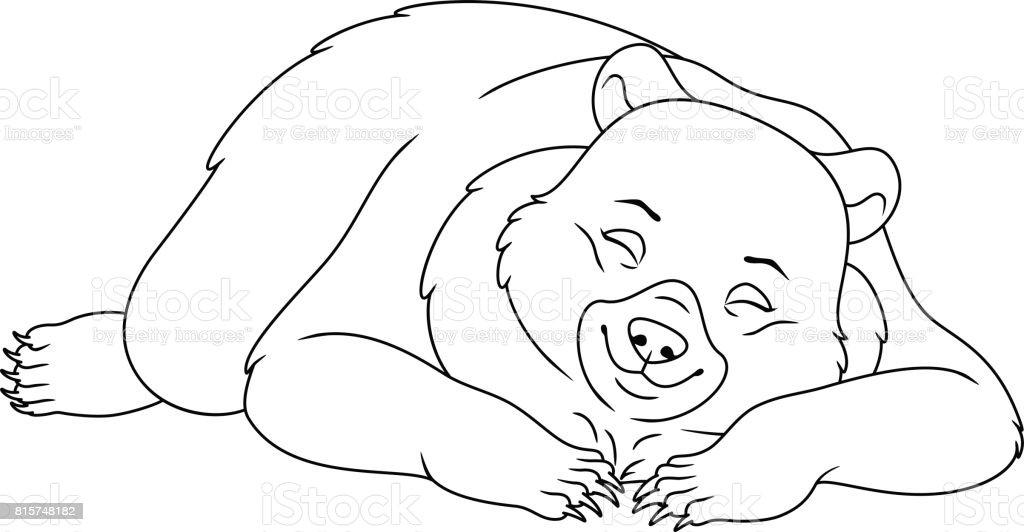 royalty free sleeping bear clipart clip art vector images rh istockphoto com sleeping polar bear clipart bear sleeping in cave clipart