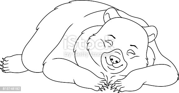 bears hibernation coloring pages - photo#20