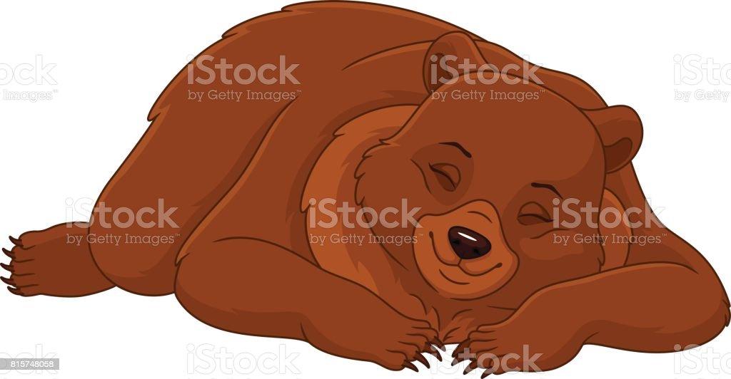 royalty free clip art of sleeping bear clip art vector images rh istockphoto com sleeping teddy bear clipart bear sleeping in cave clipart
