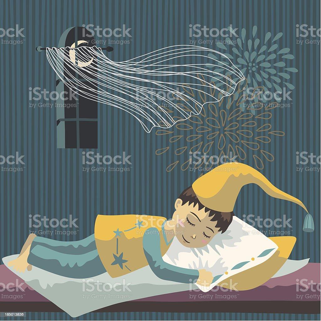 Garçon dormir - Illustration vectorielle