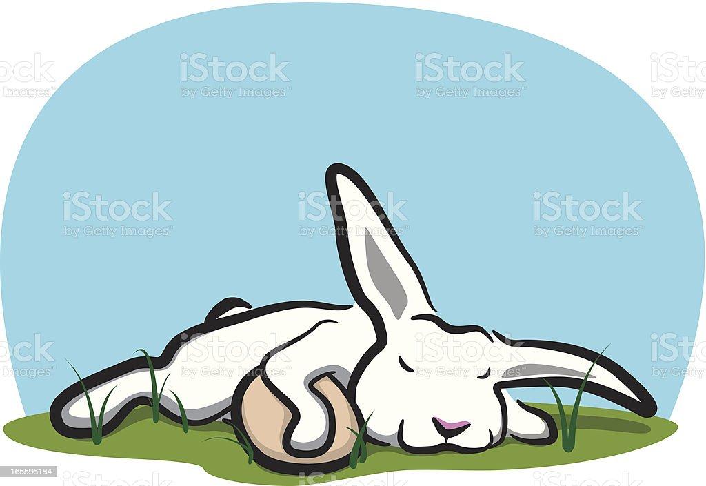 Sleeping Bunny royalty-free sleeping bunny stock vector art & more images of animal