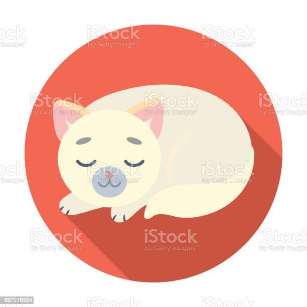 Sleeping cat icon in flat style isolated on white background sleep vector id697278934?b=1&k=6&m=697278934&s=612x612&h=2vrn4i26qxrrf0x9sgx3bf7w a2pzuffa3tfmxnjpwk=
