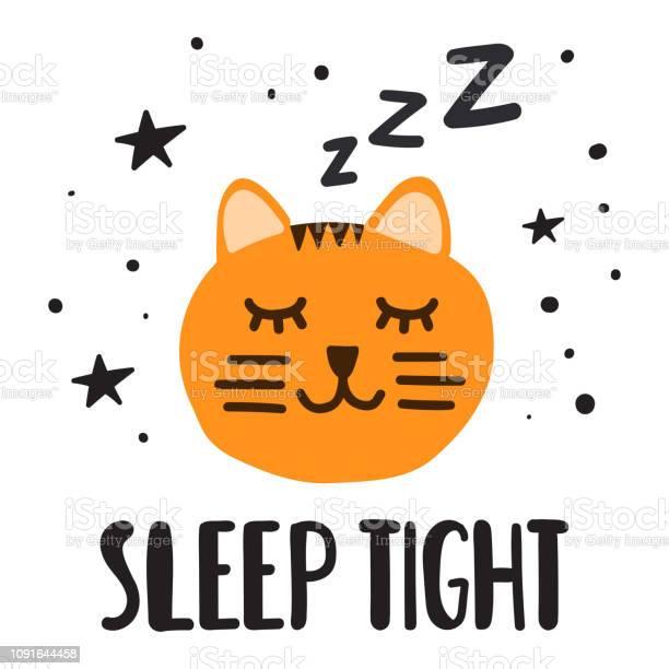 Sleeping cat sleep tight vector illustration for greeting card t vector id1091644458?b=1&k=6&m=1091644458&s=612x612&h=p2umzdabkbvea7dzx2nehsoioxrle9xl5h13jfnifp8=