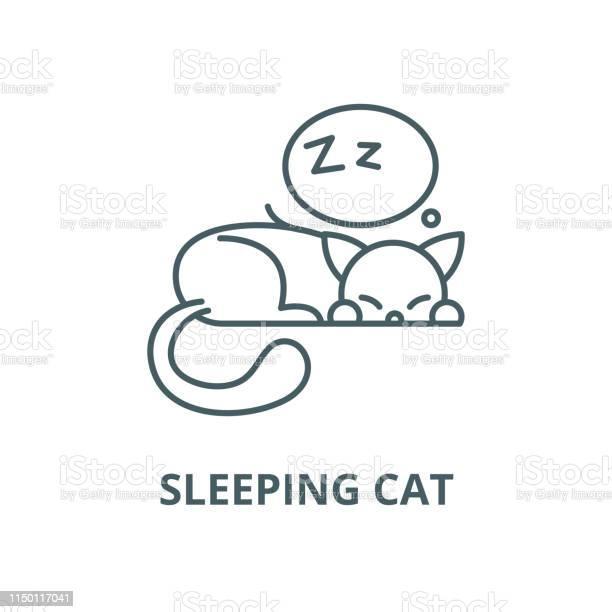 Sleeping cat vector line icon linear concept outline sign symbol vector id1150117041?b=1&k=6&m=1150117041&s=612x612&h=nzhpmdhe5ctpyr cdtwkfbjsuoaenaiocsvjmyqvnv0=