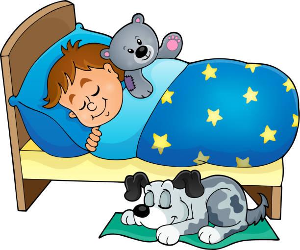 Best Sleeping Boy In Bed Illustrations, Royalty-Free ... (612 x 510 Pixel)