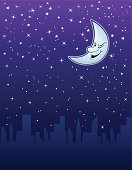 Sleeping City or Winking Moon