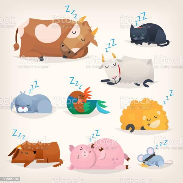 Sleeping cute animals vector id928392040?b=1&k=6&m=928392040&s=612x612&h=mw4rzledymdqqrpl5w2m8t9woubsdu2hust a1ghg3i=