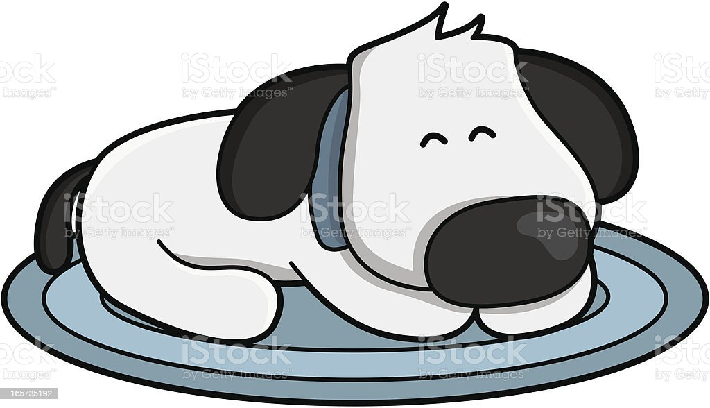 royalty free dog sleeping clip art vector images illustrations rh istockphoto com sleeping dog animated clipart