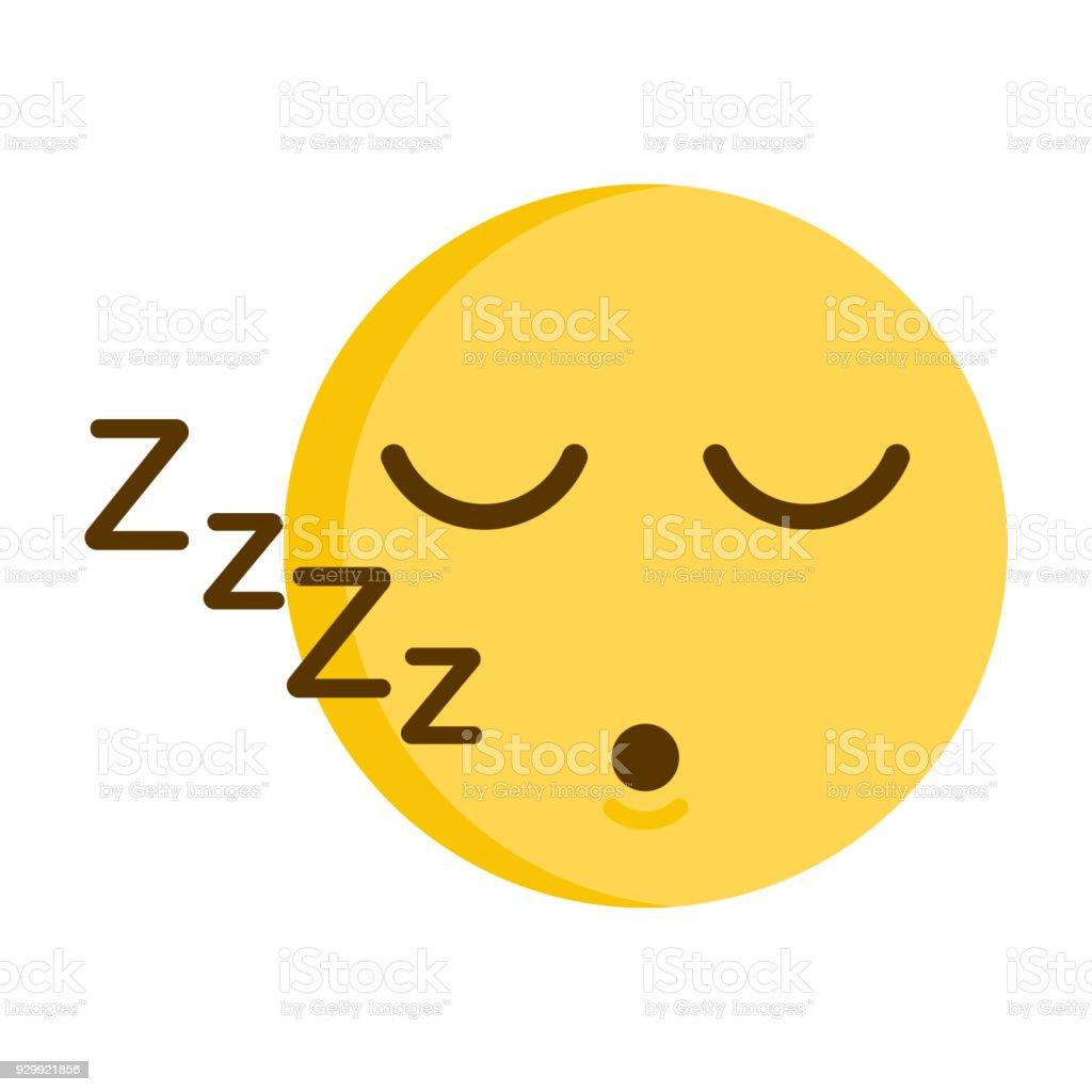 Sleeping emoticon. Vector of a cute smiley emoji icon vector art illustration