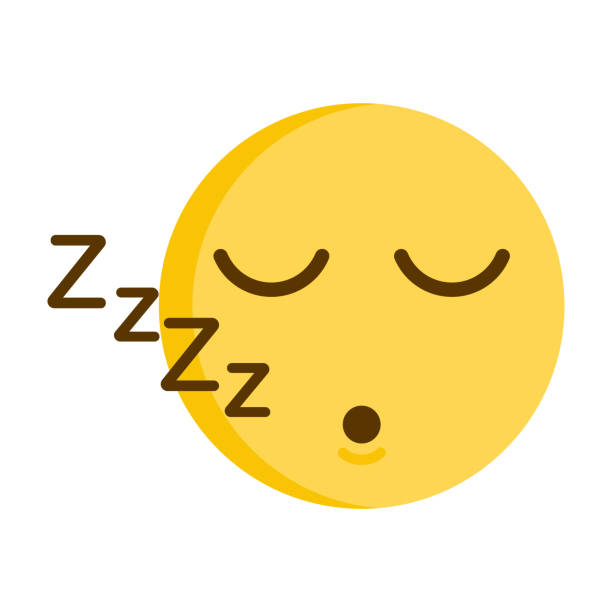 Sleeping emoticon. Vector of a cute smiley emoji icon vector art illustration