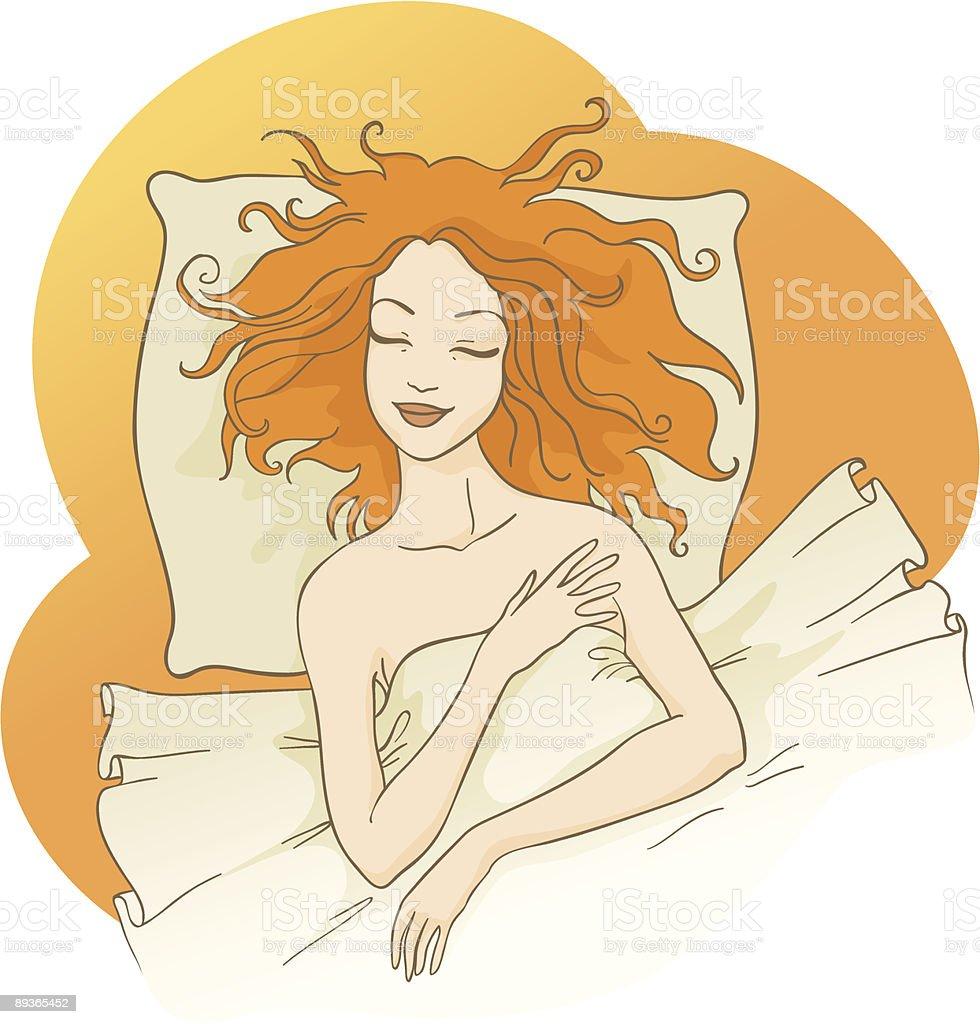 Chica durmiendo 2 ilustración de chica durmiendo 2 y más banco de imágenes de acostado de espalda libre de derechos
