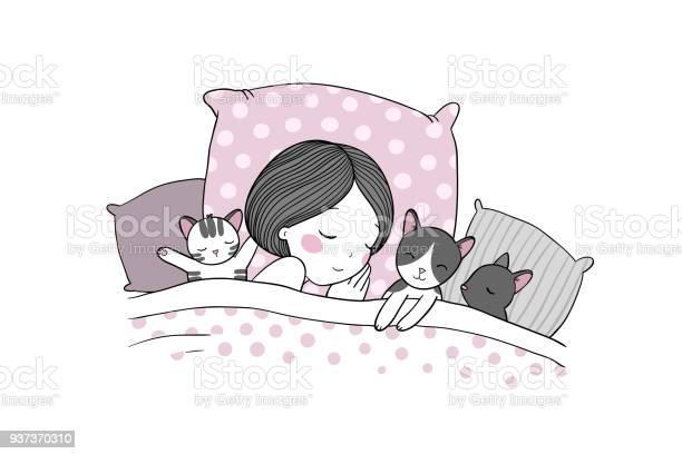 Sleeping girl and cat in bed good night vector id937370310?b=1&k=6&m=937370310&s=612x612&h=62qbcdodtag4ewehhbs0sjjxq8pdjwsgnh84zwlfy80=