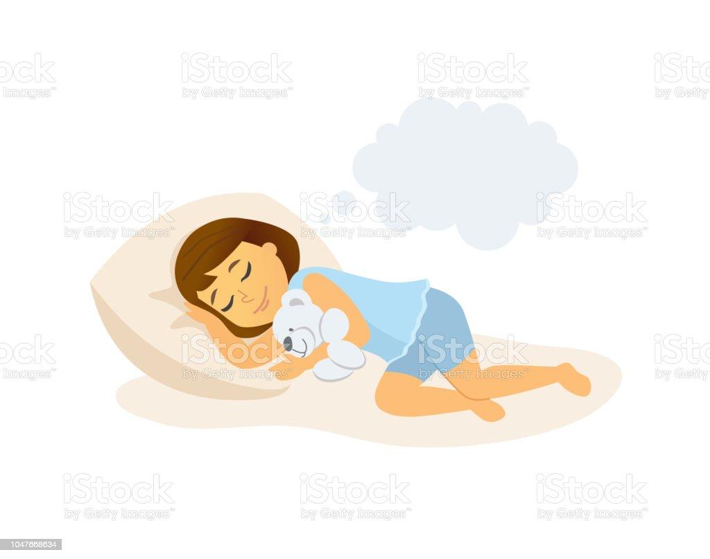 Imagenes De Persona Durmiendo: Ilustración De Niña Durmiendo Ilustración De Dibujos