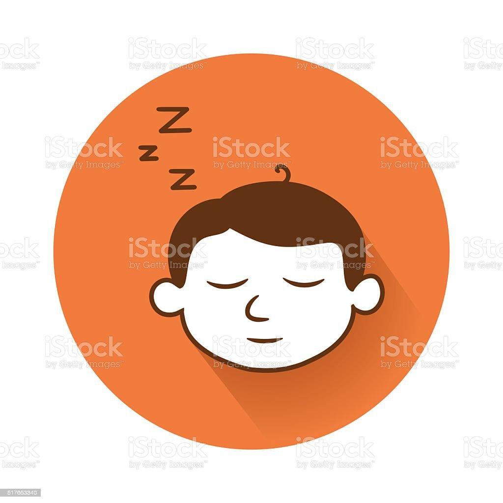 sleeping head symbol vector art illustration