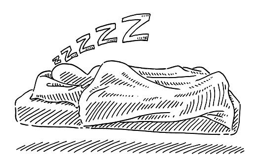 Sleeping Human Figure Drawing