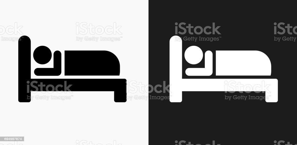 Sleeping Icon on Black and White Vector Backgrounds vector art illustration